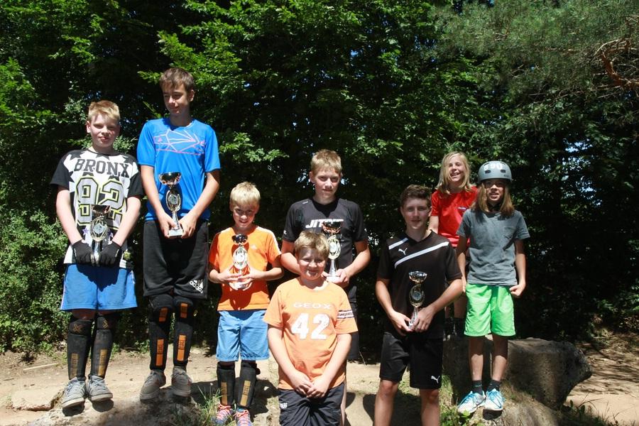 Namen von links: Müller Eric, Hopfengärtner Hannes, Milke Felix, Hopfengärtner Paul, Schmitt Tobias, Spatz Luca, Münzer Nils, Weber Hannes