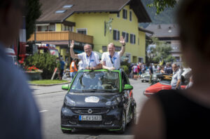Mercedes-Benz auf der Silvretta Classic und Mercedes-Benz E-Auto Rallye 2015