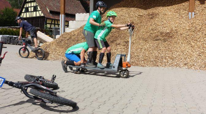 Ferienprogramm in Egloffstein ( Fahrradtrial )