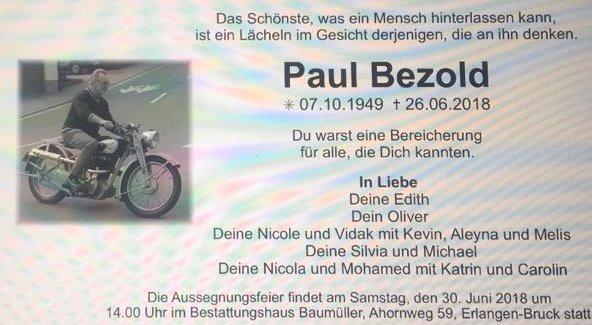 Adieu Schotter-Paul